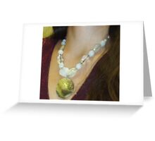 Mother of Pearl Shell Pendant Greeting Card