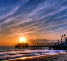 Santa Monica Pier by Eddie Yerkish