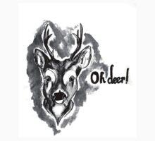 Oh Deer (b+w) by loandbehold