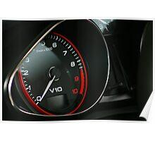 V10 Audi R8 Cluster Left Side Poster
