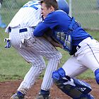 Out at the Plate by Kent Nickell