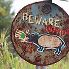 Warning - Hippo by v-something