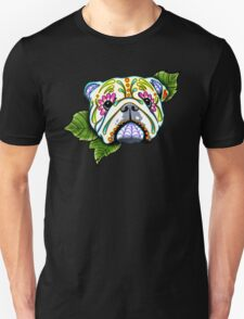 Day of the Dead English Bulldog Sugar Skull Dog Unisex T-Shirt