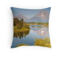 Grand Teton Relection Throw Pillow