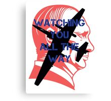 Watching you all the way by #fftw Canvas Print