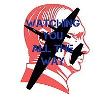 Watching you all the way by #fftw Photographic Print