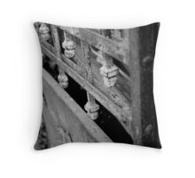 Vintage elegant metal gate Throw Pillow