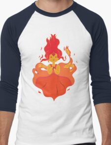 Flame Princess Men's Baseball ¾ T-Shirt