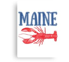 Maine Watercolor Lobster - Maine Lobster Canvas Print