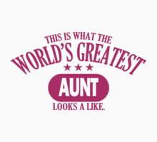 The World's Greatest Aunt Looks a Like by personalized