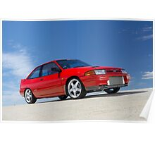 Red Ford Laser TX3 4WD Turbo Poster