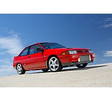 Red Ford Laser TX3 4WD Turbo Photographic Print