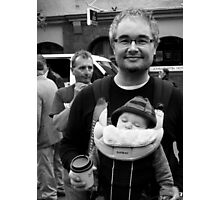 Anarchist and Baby Photographic Print