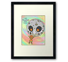 Skull Kid and Moon Framed Print