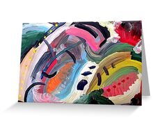 abstract 7 Greeting Card