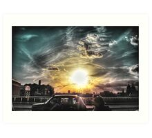 Sunset over London  Art Print