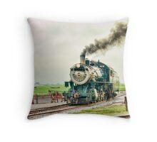 Strasburg Railway - New Track  Throw Pillow