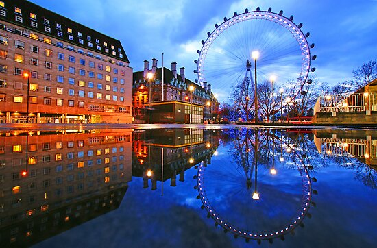 London Eye Blue by DavidGutierrez