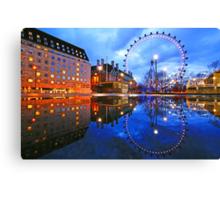 London Eye Blue Canvas Print