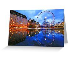 London Eye Blue Greeting Card