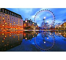 London Eye Blue Photographic Print