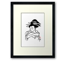 Maiko sketch Framed Print