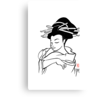 Maiko sketch Canvas Print