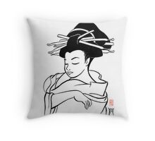 Maiko sketch Throw Pillow