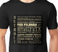 Detroit Michigan Famous Landmarks Unisex T-Shirt