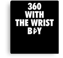 360 With The Wrist Boy | White Canvas Print