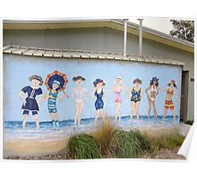 Painted Women's Restroom. Poster