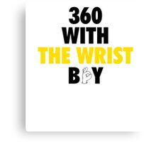 360 With The Wrist Boy | Black & Gold Canvas Print