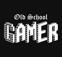 OLD SCHOOL GAMER (in white) by Bela-Manson
