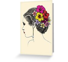 summer bride Greeting Card