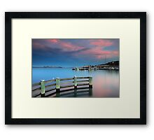 Sunset on the Docks Framed Print