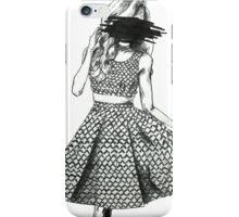 Black Scribble iPhone Case/Skin