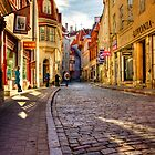 Streets of Tallinn, Estonia by Clint Burkinshaw