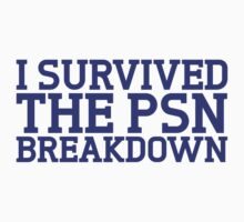 I survived the psn breakdown Kids Clothes