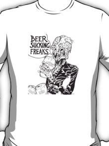 Beer Sucking Freaks (black) T-Shirt