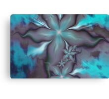 Aquafleur Fractal Canvas Print