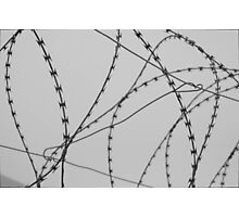 Wire at Robben Island (B&W) Photographic Print