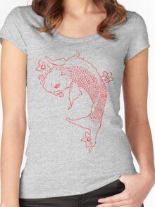 Koi Fish Women's Fitted Scoop T-Shirt