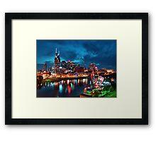 Nashville In The Evening Framed Print
