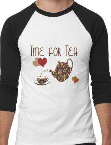 Time for Tea Tee Men's Baseball ¾ T-Shirt