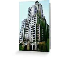 Industrial Trust Building (green) Greeting Card