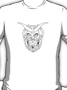 Horned Skull (black) T-Shirt