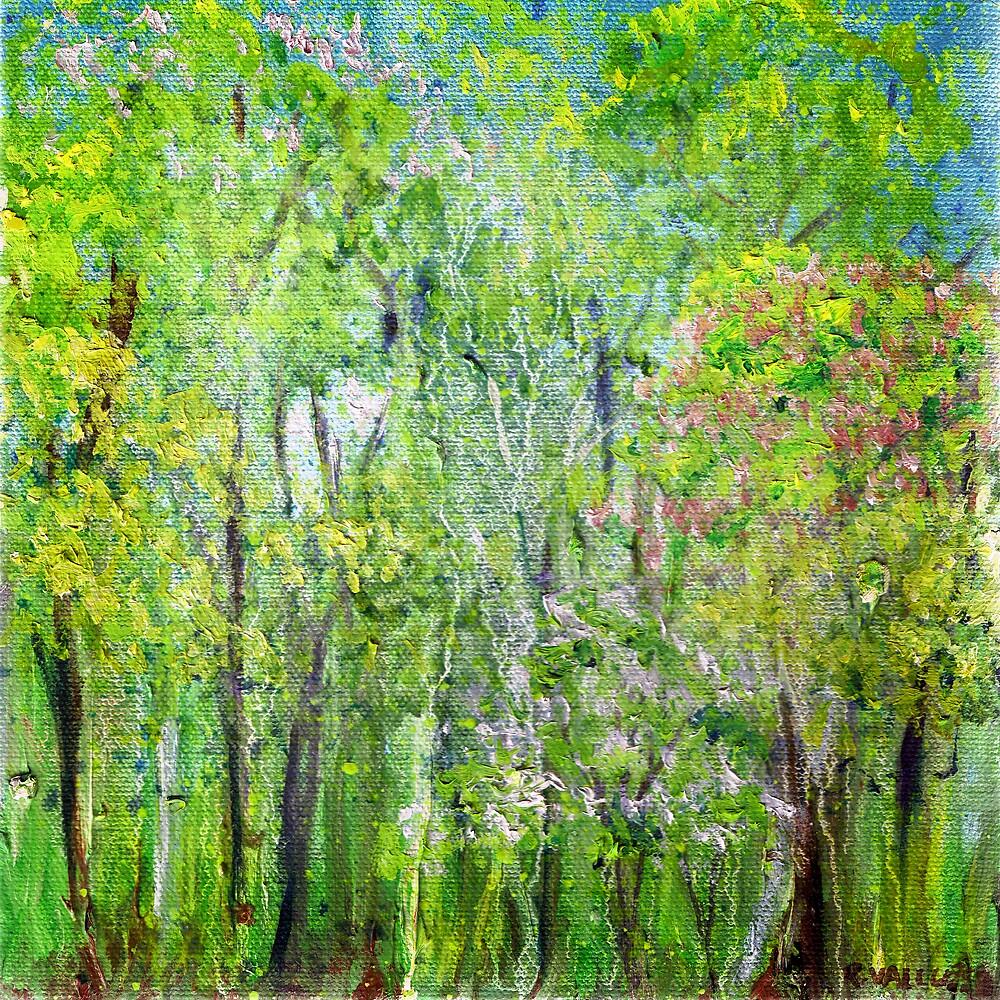 Little Flowering Trees by Regina Valluzzi