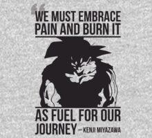 We Must Embrace Pain - Goku Super Saiyan Transformation by oolongtees
