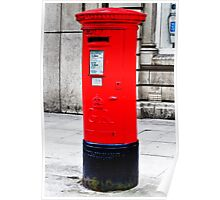 Pillarbox Red Poster