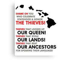 Statehood Thieves BLK Canvas Print